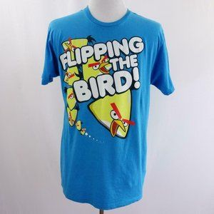 Angry Birds Flipping The Bird Blue Graphic T Shirt